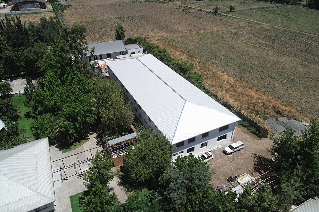 Construction progress - Chile hospital aerial