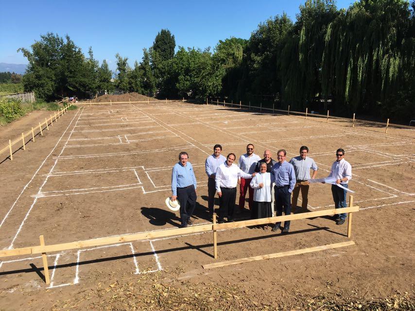 Construction progress - Chile hospital