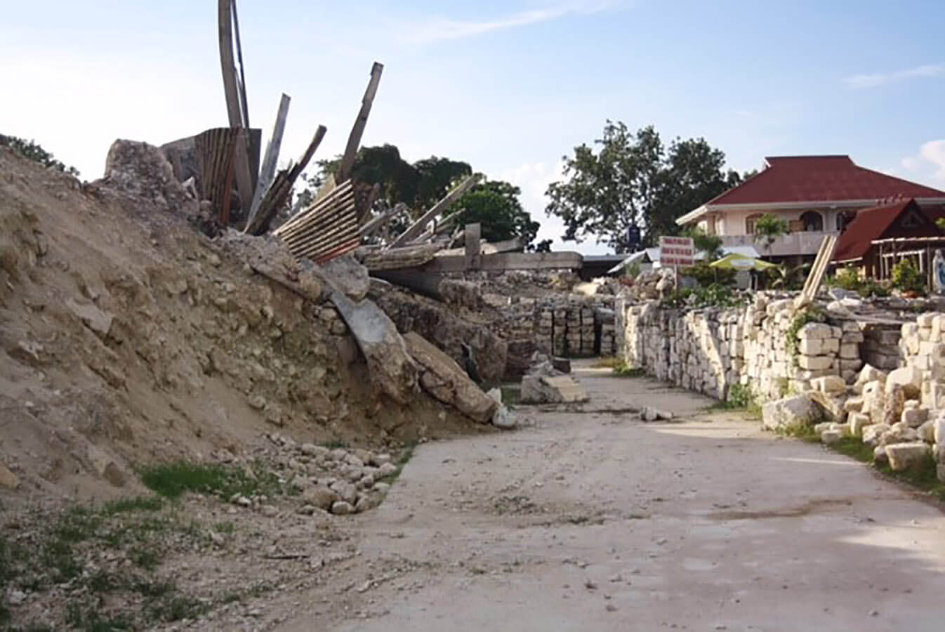 Destruction following the 2013 earthquake in the Philippines was extreme
