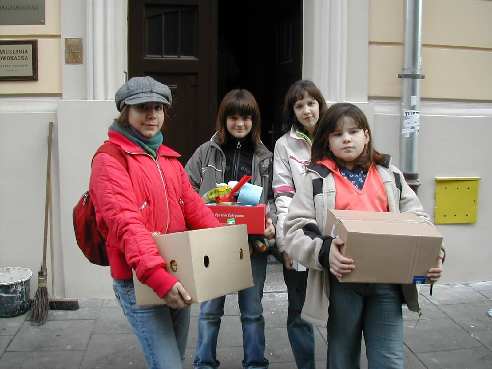 Families were encouraged to work together to bring food and care to the poor of Poland