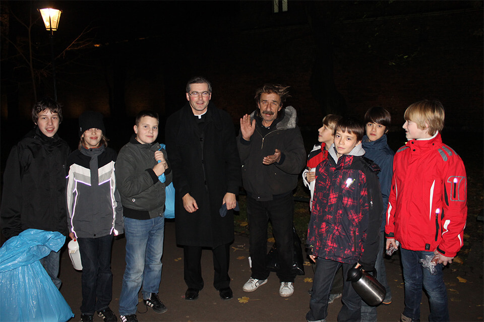 Homeless ministry in Poland made possible in part by Peter Freissle