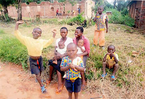 Thanks to Peter, these children have received food, medicine, and care in DR Congo