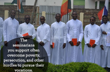 Poverty and persecution are two big hurdles seminarians in the developing world often have to overcome to pursue their vocation to the priesthood.