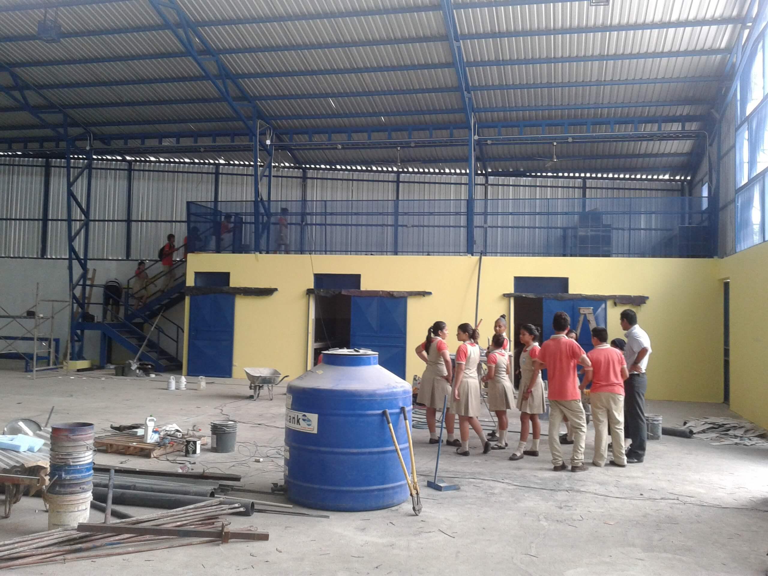 Costa Rica - Construction Progress on school gymnasium