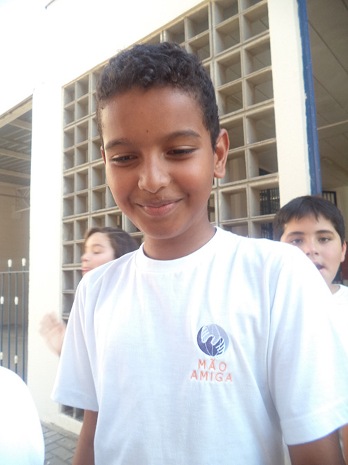 Mão Amiga student Octavio - Brazil