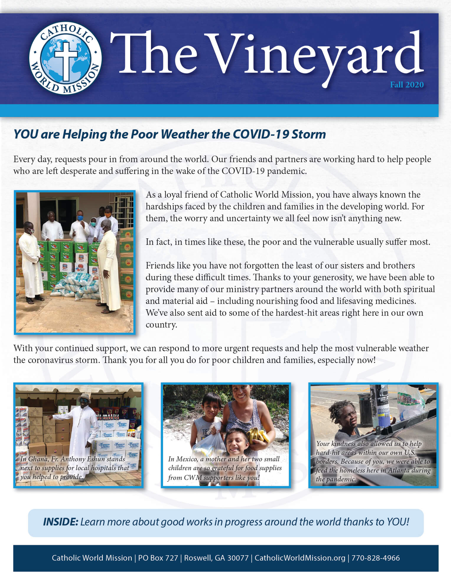 Fall 2020 the Vineyard Newsletter
