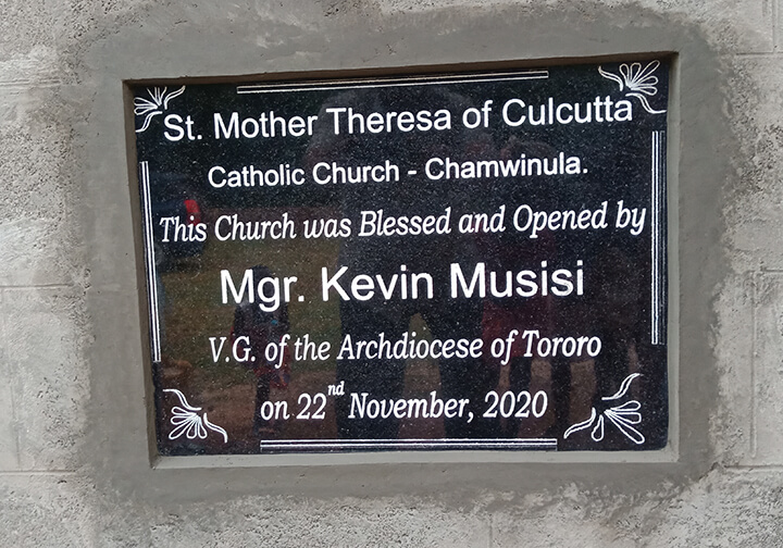EV_Uganda_St Theresa Church dedication plaque