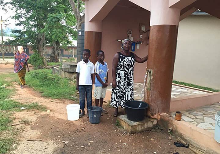 GhanaMaame Adutwiwaa at water well