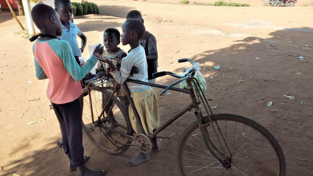 Uganda children from Namwendwa are learning about negotiation, team work, and sacrifice