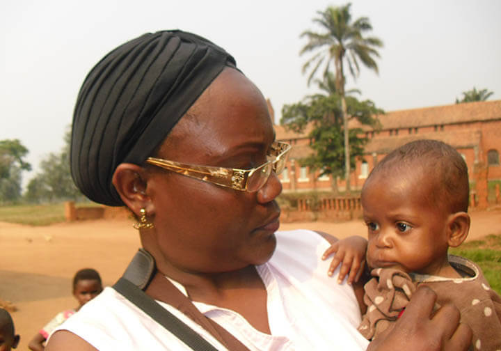 Catholic nun serving the orphanage in DR Congo