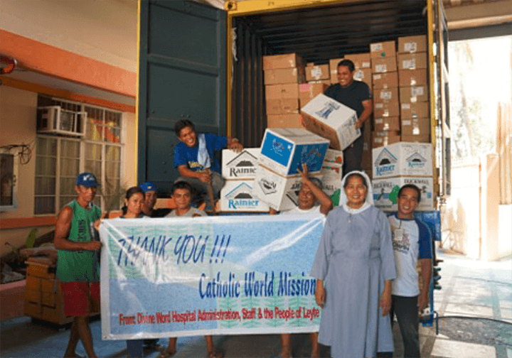 Philippines Divine Word hospital,Items shipped to the Philippines