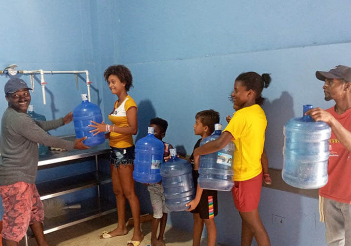 Ecuador-Limones-The community is now beginning to have access to clean drinking water