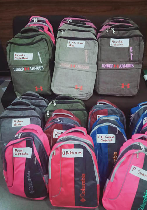 New backpacks and supplies - a wonderful Christmas gift for the children