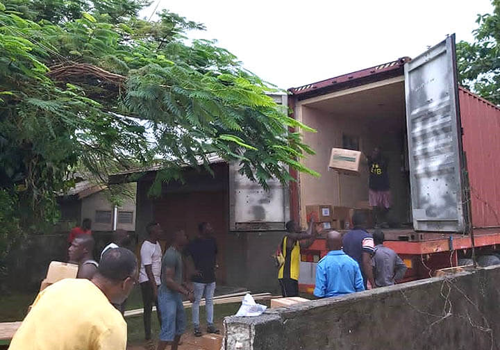 Medical supplies for Ghana shipments