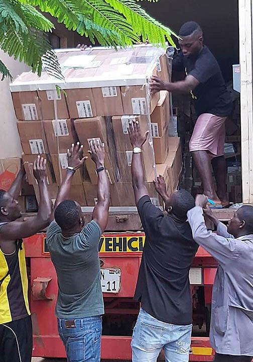 Medical equipment delivering in Ghana