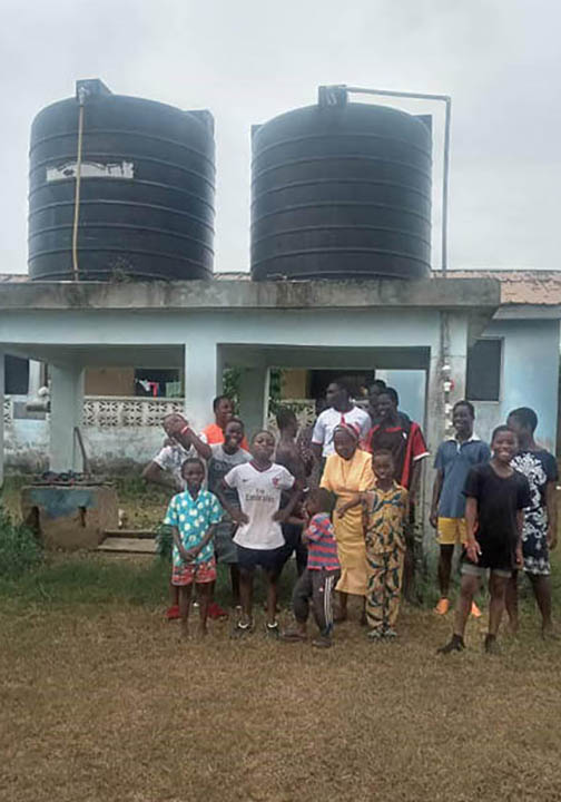 Ghana_Egyam Children's home has two water tanks