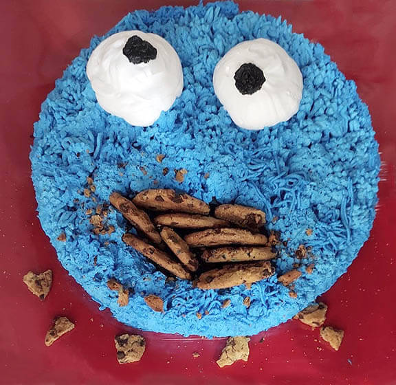 The kids loved the Cookie Monster cake