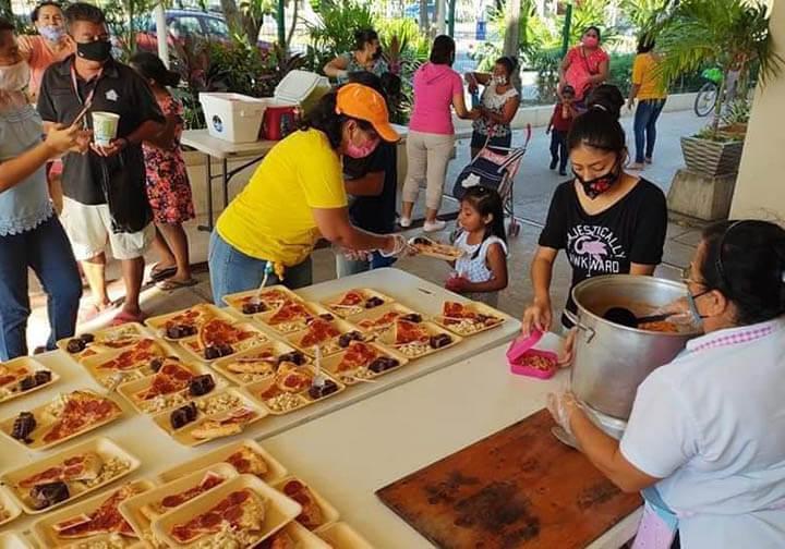 Dia del Niño celebration Solidarity supper Playa del Carmen Mexico