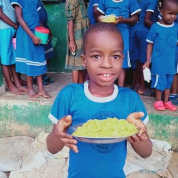 Food for children and teachers in Holy Rosary school, Nigeria