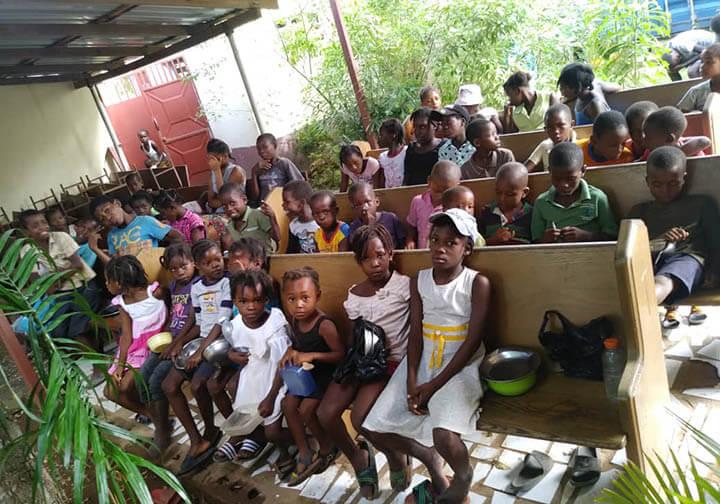 Haiti CFSOP keep running their feeding program