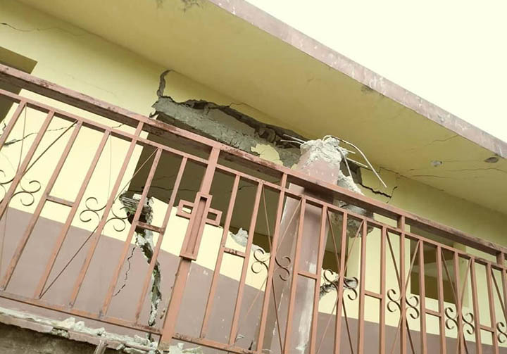 Haiti CFSOP building collapsed after earthquake