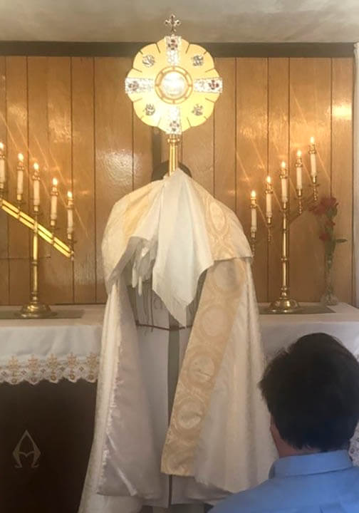 New Monstrance delivered to Catron County parishes, Gallup New Mexico