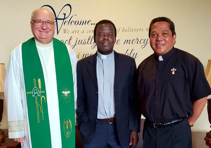 Fr. Flood, Fr. Kaboha & Dea Rick Medina