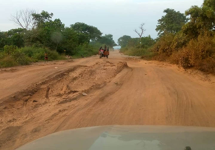 In Kogi Nigeria, the road conditions are so deplorable that many parishes are only accessible via motorcycles